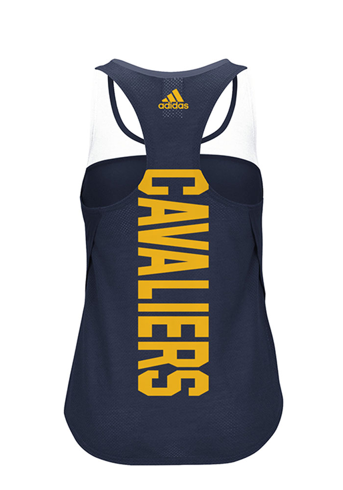 Adidas Cleveland Cavaliers Womens Navy Blue Colorblock Tank Top - Image 2