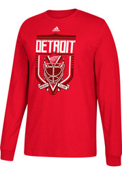 Adidas Detroit Red Wings Red Go-To III Long Sleeve T Shirt