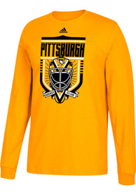 Pittsburgh Penguins Adidas Go-To III T Shirt - Yellow
