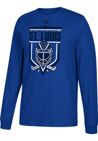 St Louis Blues Adidas Go-To III T Shirt - Blue