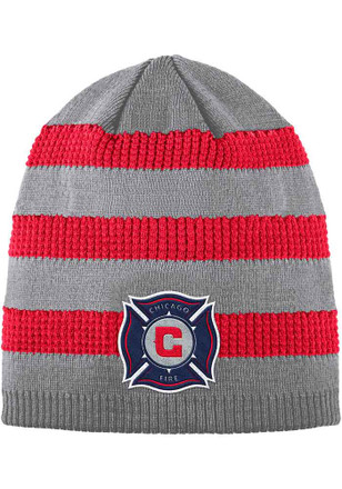 Adidas Chicago Fire Grey 2018 Authentic Textured Knit Hat