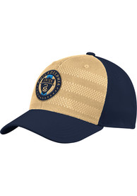 Philadelphia Union Adidas 2018 Authentic Structured Flex Hat - Navy Blue