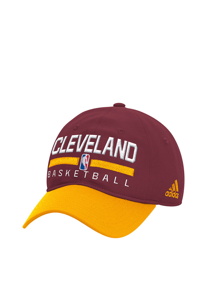 Adidas Cleveland Cavaliers Mens Maroon 2016 Practice Slouch Adjustable Hat - Image 1