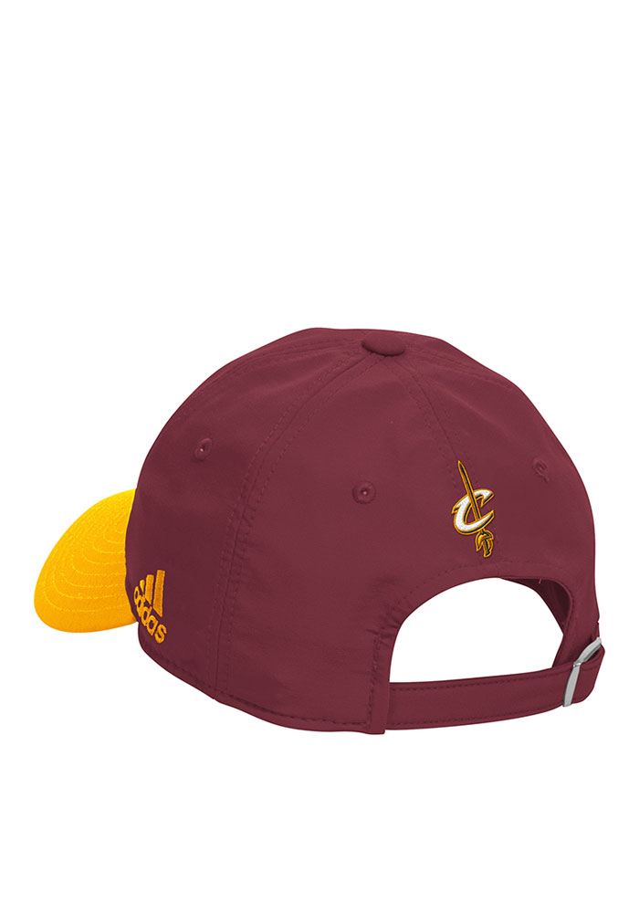 Adidas Cleveland Cavaliers Mens Maroon 2016 Practice Slouch Adjustable Hat - Image 2