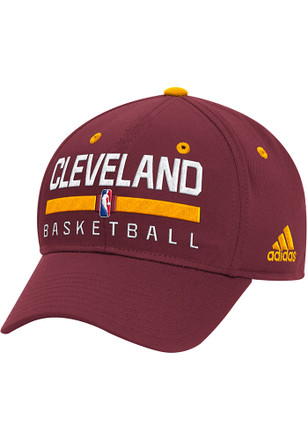 Adidas Cleveland Cavaliers Mens Maroon 2016 Practice Flex Hat