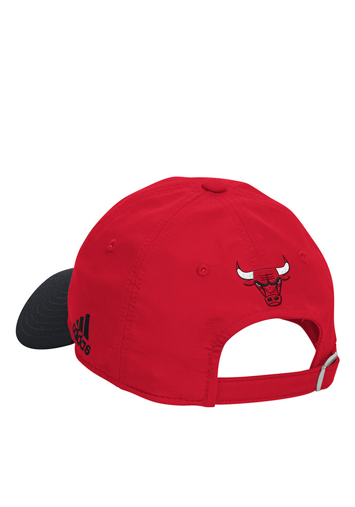 Adidas Chicago Bulls Mens Red 2016 Practice Slouch Adjustable Hat - Image 2