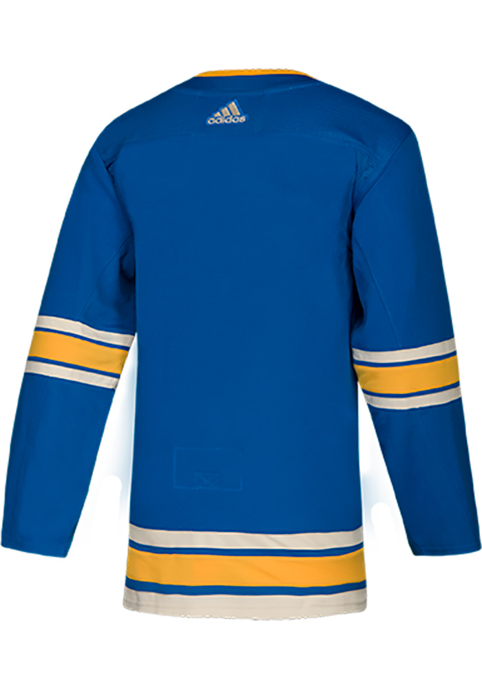 St Louis Blues Mens Blue Blank Hockey Jersey - Image 2