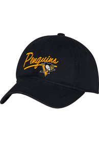 Pittsburgh Penguins Adidas Primary Slouch Adjustable Hat - Black