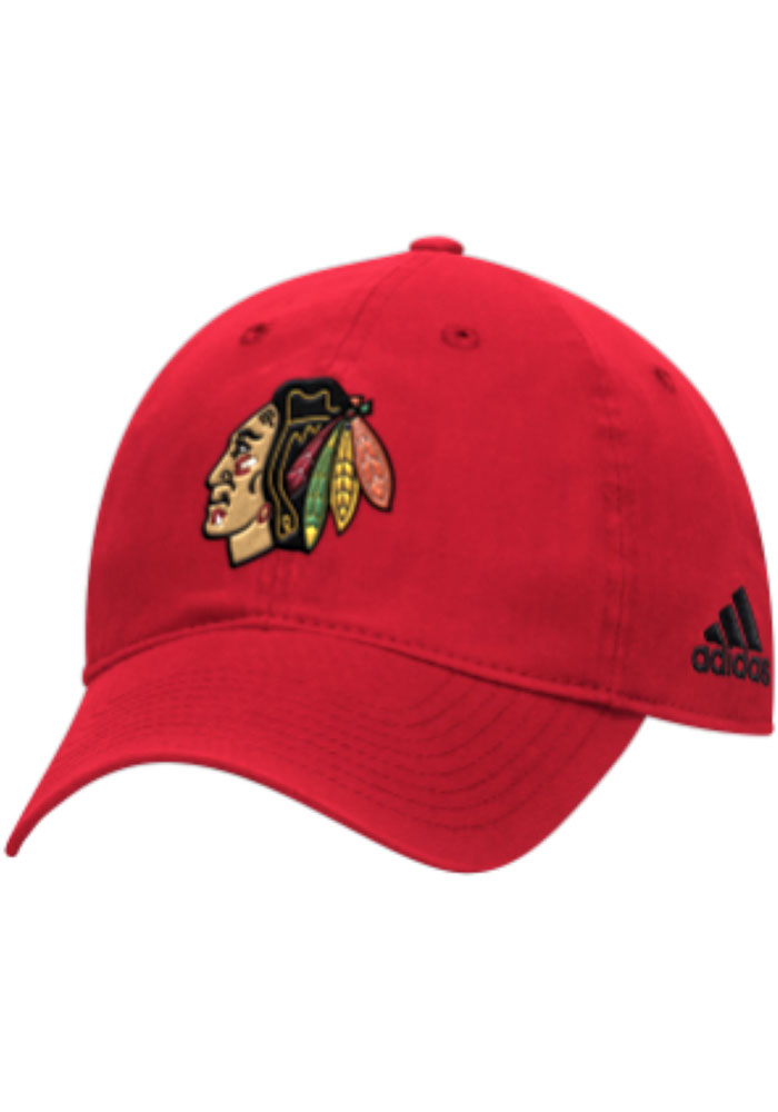 Chicago Blackhawks Adidas Primary Slouch Adjustable Hat - Red