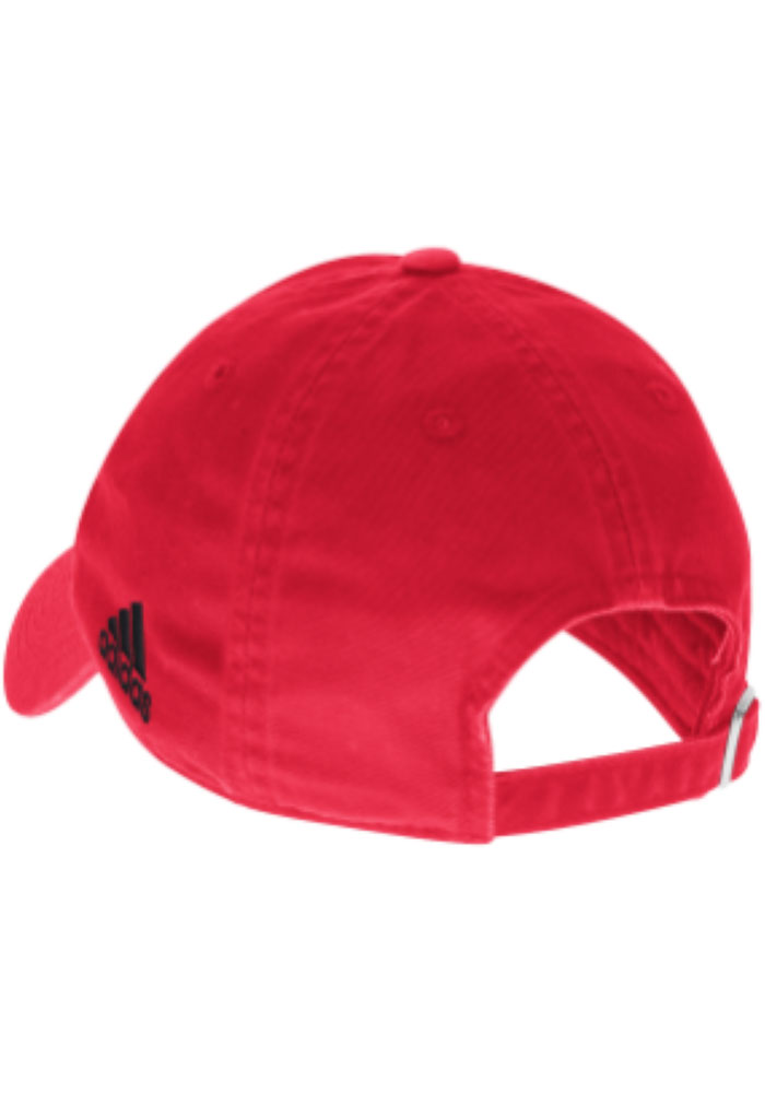 Adidas Chicago Blackhawks Primary Slouch Adjustable Hat - Red - Image 2