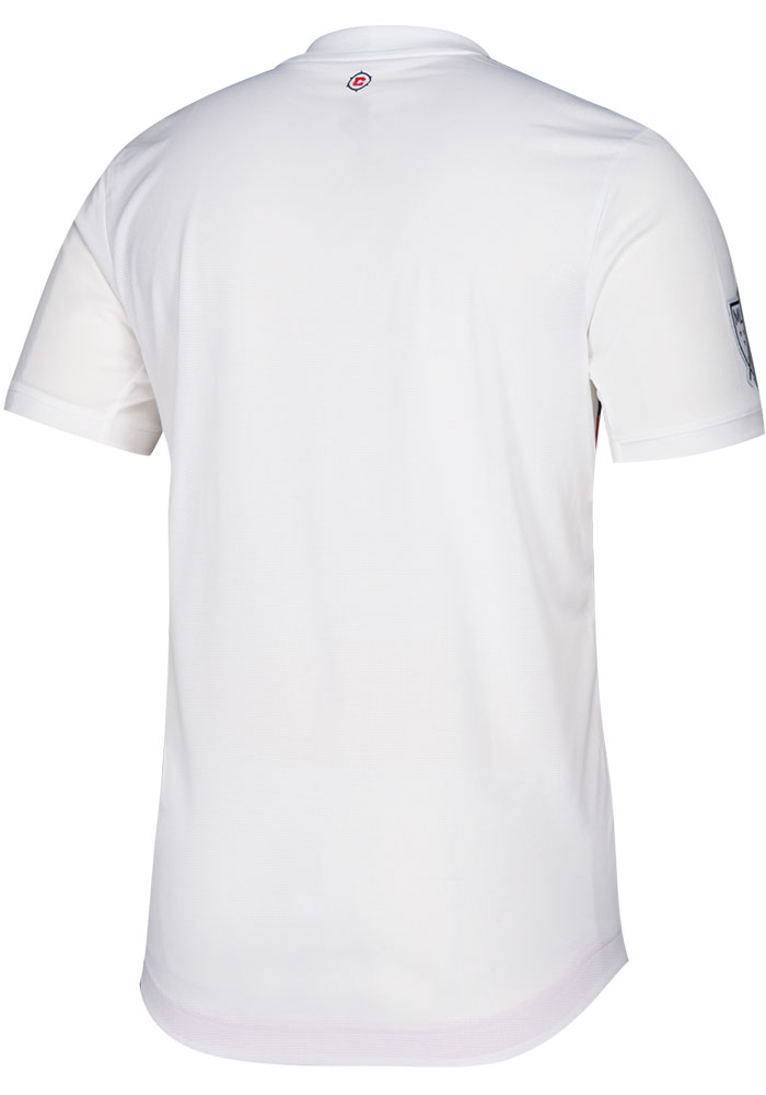 Chicago Fire Mens Adidas Authentic Soccer 2019 Secondary Jersey - White - Image 2