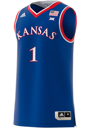 separation shoes c5d22 2ac6c Adidas Kansas Jayhawks White Authentic Basketball Jersey