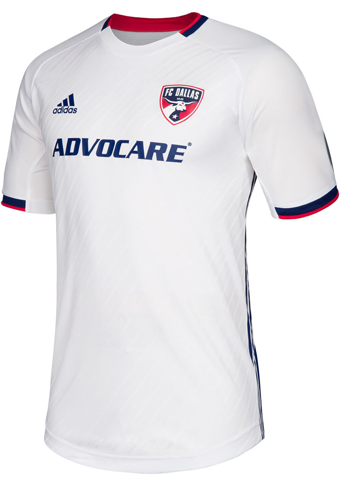 FC Dallas Mens Adidas Authentic Soccer 2019 Secondary Jersey - Blue - Image 1