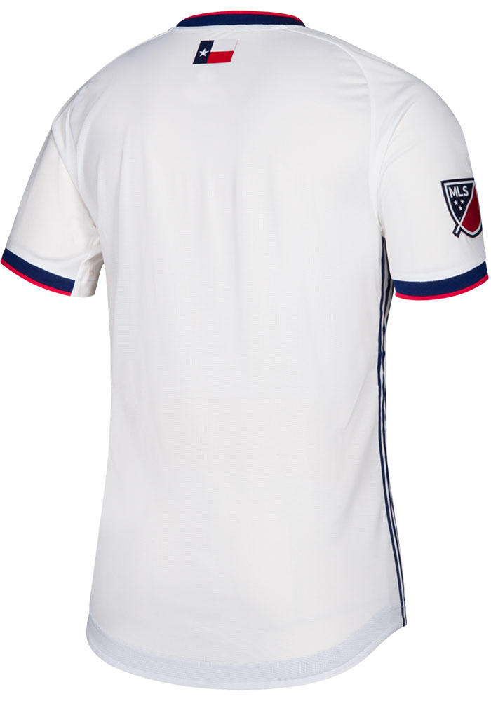 FC Dallas Mens Adidas Authentic Soccer 2019 Secondary Jersey - Blue - Image 2