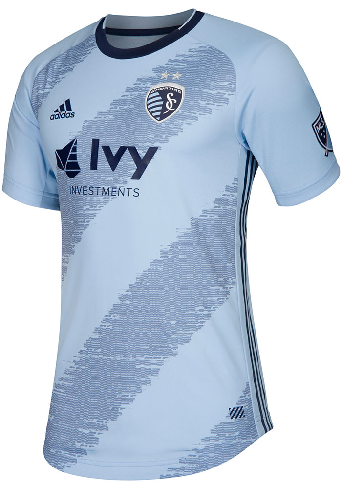 Sporting Kansas City Mens Adidas Authentic Soccer 2019 Primary Jersey - Navy Blue - Image 1