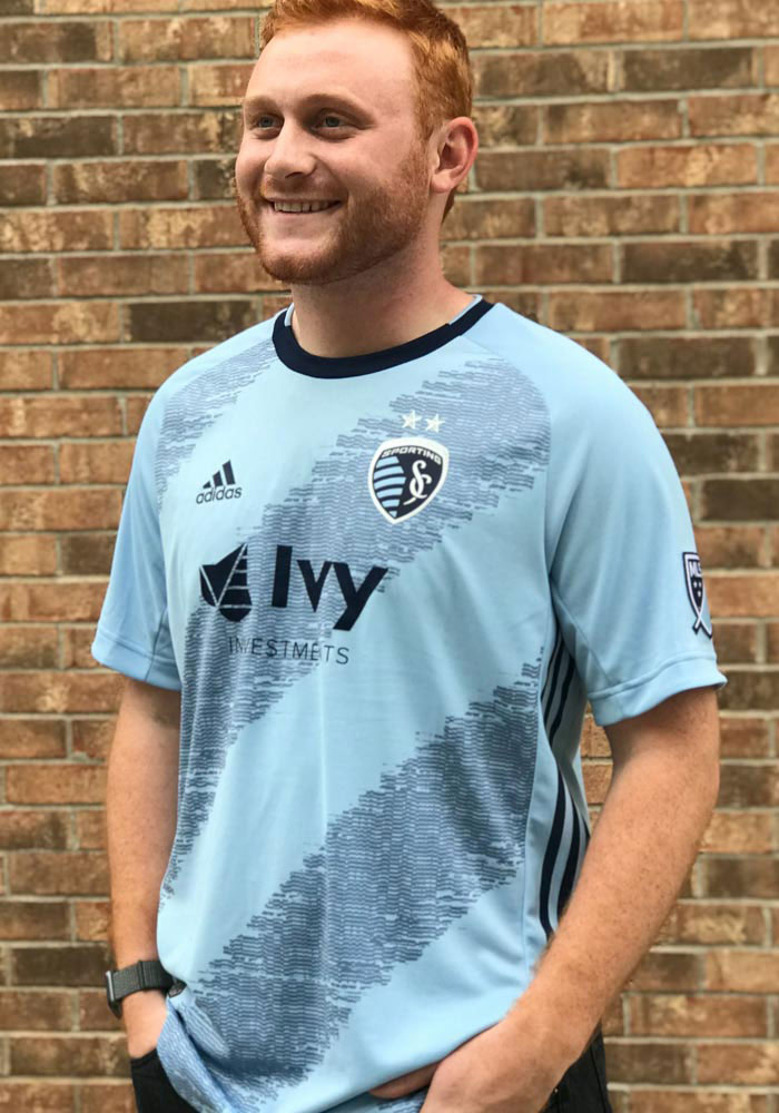 Sporting Kansas City Mens Adidas Authentic Soccer 2019 Primary Jersey - Navy Blue - Image 3