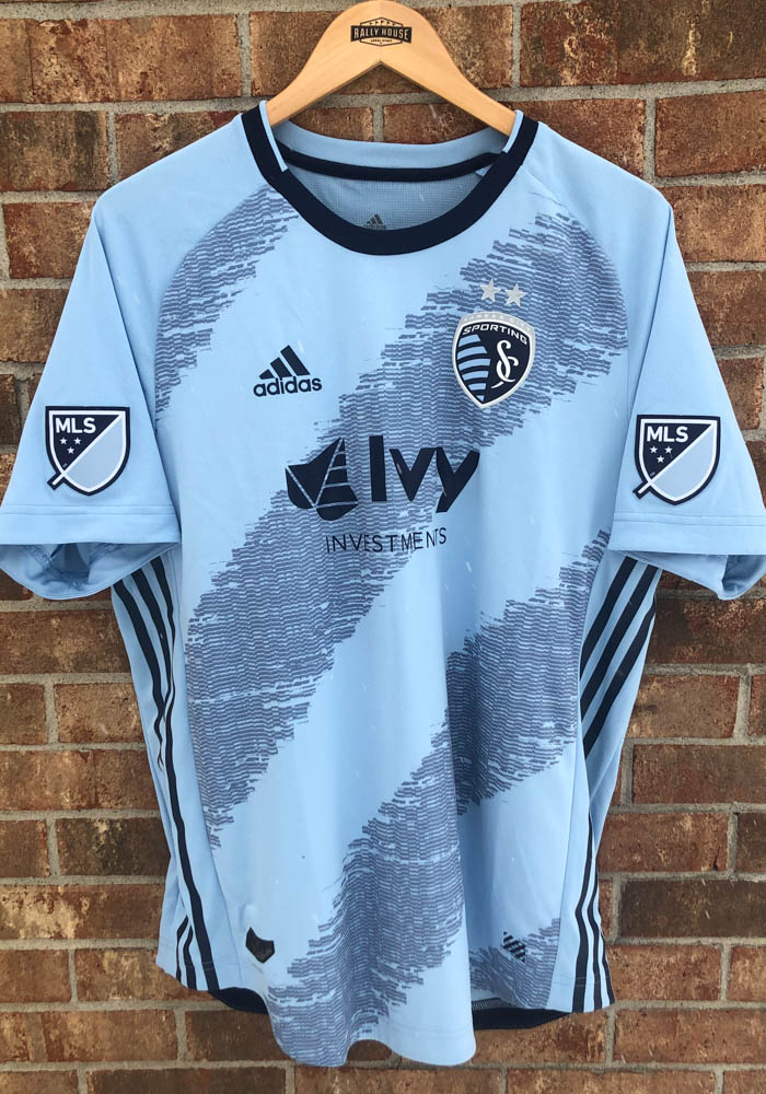 Sporting Kansas City Mens Adidas Authentic Soccer 2019 Primary Jersey - Navy Blue - Image 5