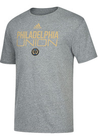 Philadelphia Union Adidas Locker Stacked Fashion T Shirt - Grey
