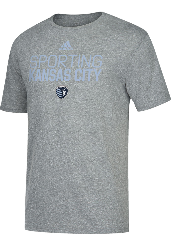 Sporting Kansas City Adidas Locker Stacked Fashion T Shirt - Grey