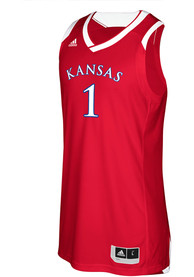Kansas Jayhawks Youth Adidas Crazy Explosive Basketball Jersey - Red
