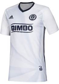 Philadelphia Union Youth Adidas 2019 Secondary Soccer Jersey - White