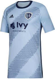 Sporting Kansas City Youth Adidas 2019 Primary Soccer Jersey - Light Blue