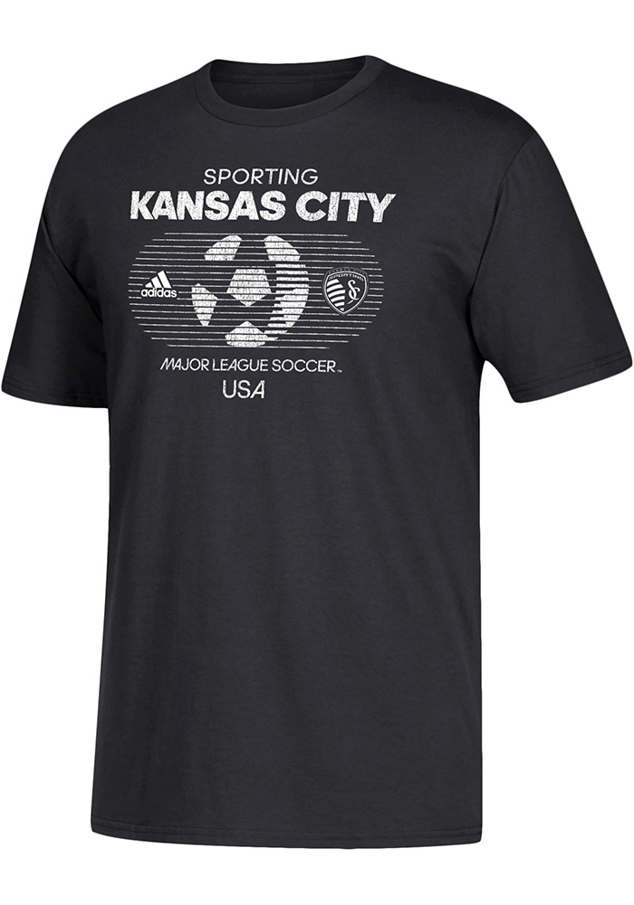 Adidas Sporting Kansas City Black Soccer World 1 Short Sleeve T Shirt - Image 1