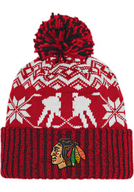 f9eb7825979d8d Adidas Chicago Blackhawks Red Ugly Sweater Knit Hat