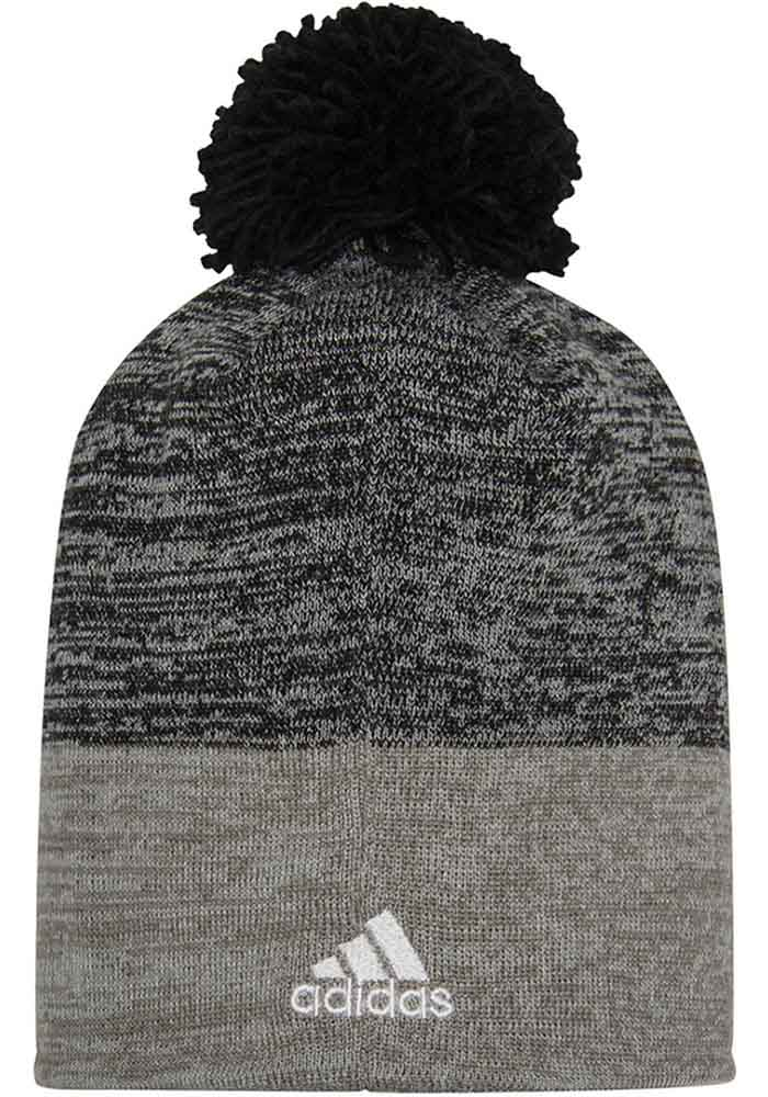 Adidas Chicago Blackhawks Charcoal Jacquard Tonal Mens Knit Hat - Image 2