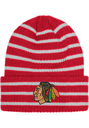 Chicago Blackhawks Adidas Striped Up Knit - Red