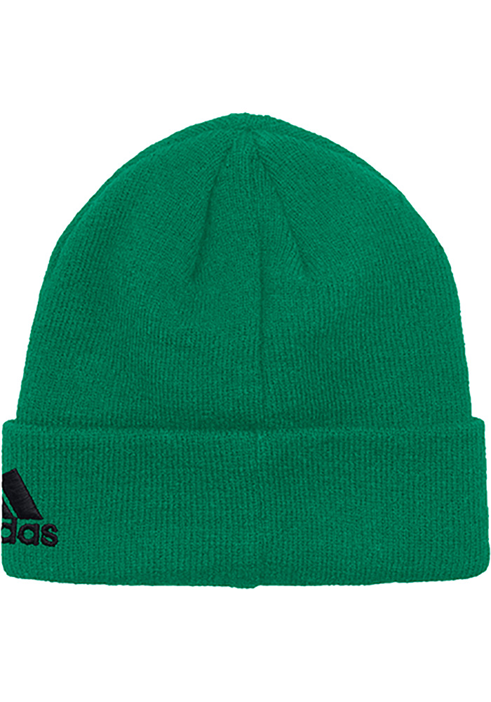 Adidas Dallas Stars Kelly Green Basic Cuff Mens Knit Hat - Image 2
