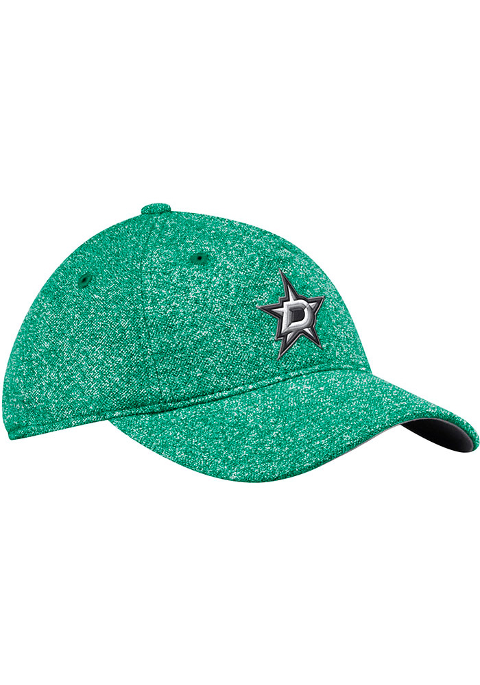 Adidas Dallas Stars Kelly Green Heathered Slouch Womens Adjustable Hat - Image 1