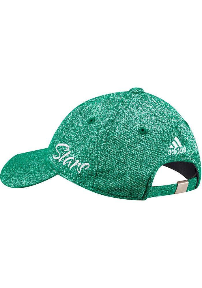 Adidas Dallas Stars Kelly Green Heathered Slouch Womens Adjustable Hat - Image 2