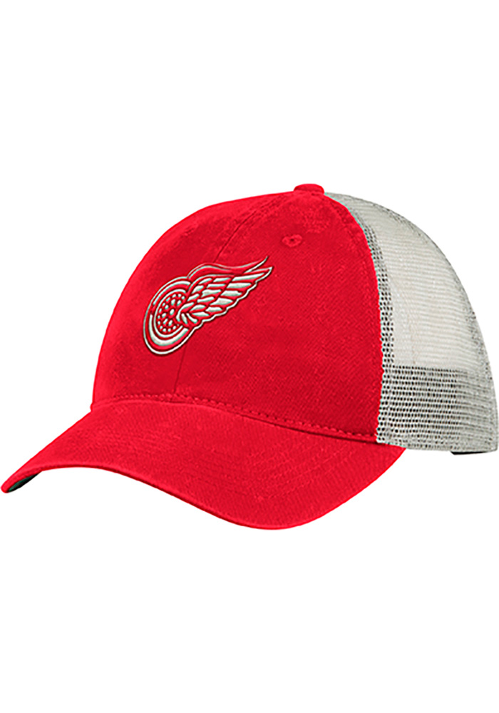 Adidas Detroit Red Wings Vintage Meshback Adjustable Hat - Red - Image 1