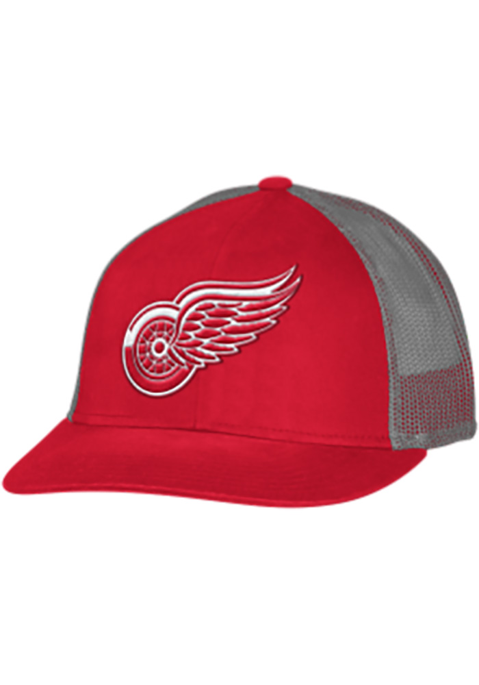 Adidas Detroit Red Wings Trucker Mesh Adjustable Hat - Red - Image 1