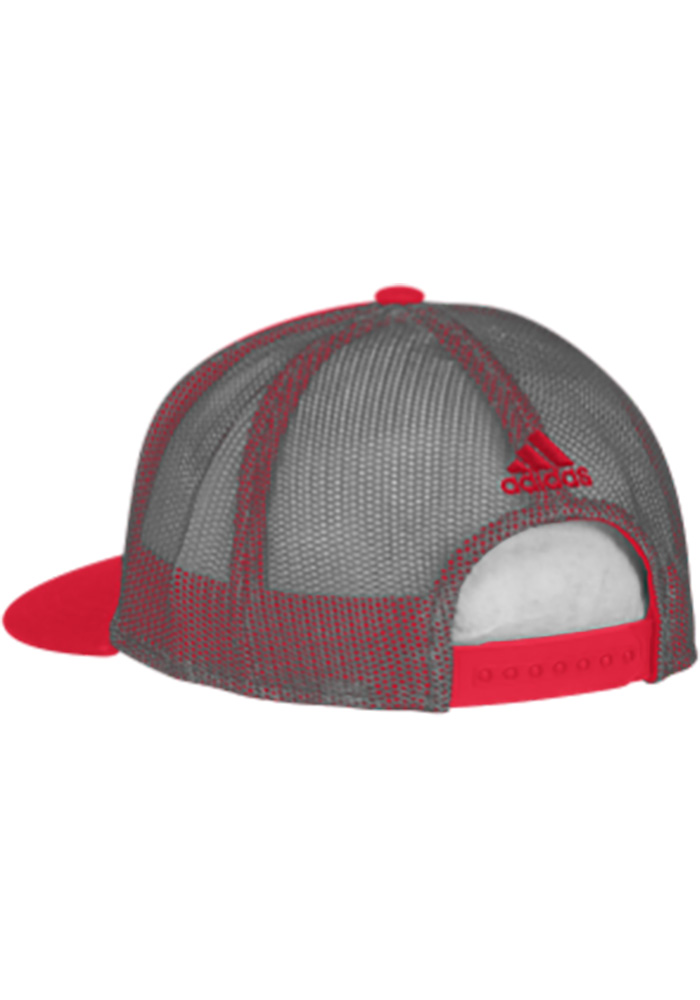 Adidas Detroit Red Wings Trucker Mesh Adjustable Hat - Red - Image 2