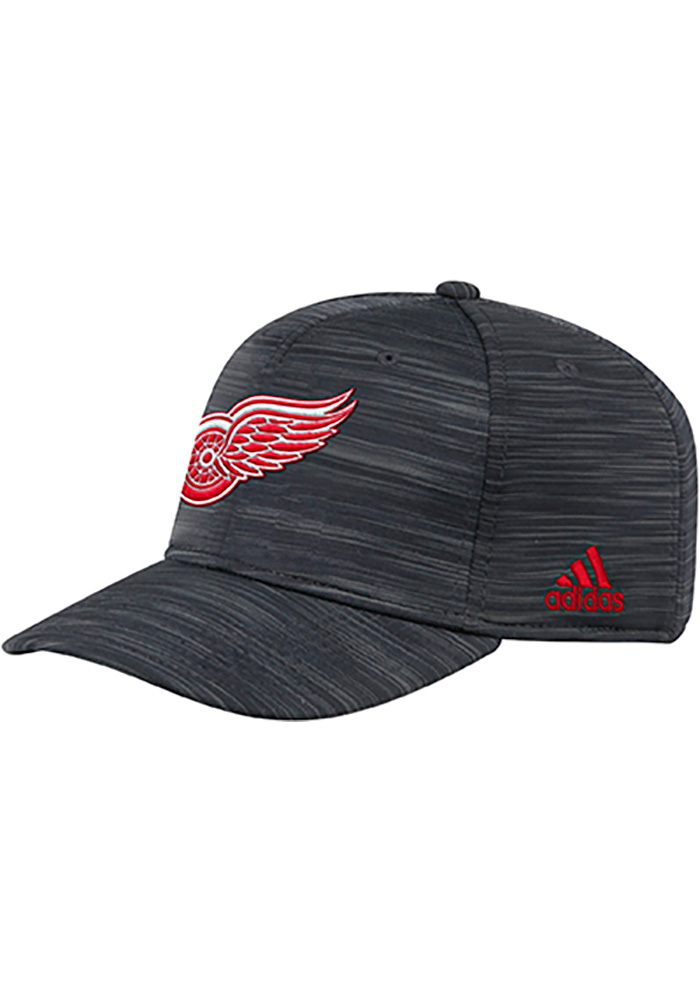 Adidas Detroit Red Wings Mens Black Heathered Span Flex Hat - Image 1