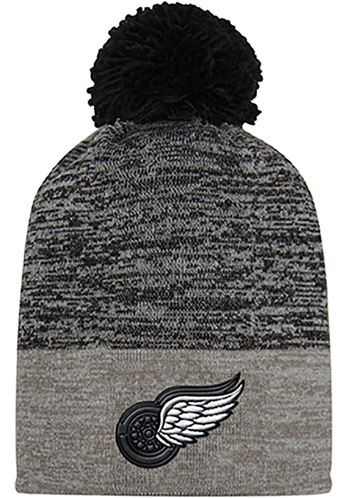 Adidas Detroit Red Wings Grey Jacquard Tonal Mens Knit Hat - Image 1