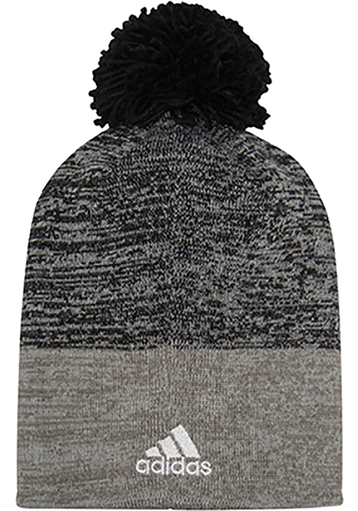 Adidas Detroit Red Wings Grey Jacquard Tonal Mens Knit Hat - Image 2