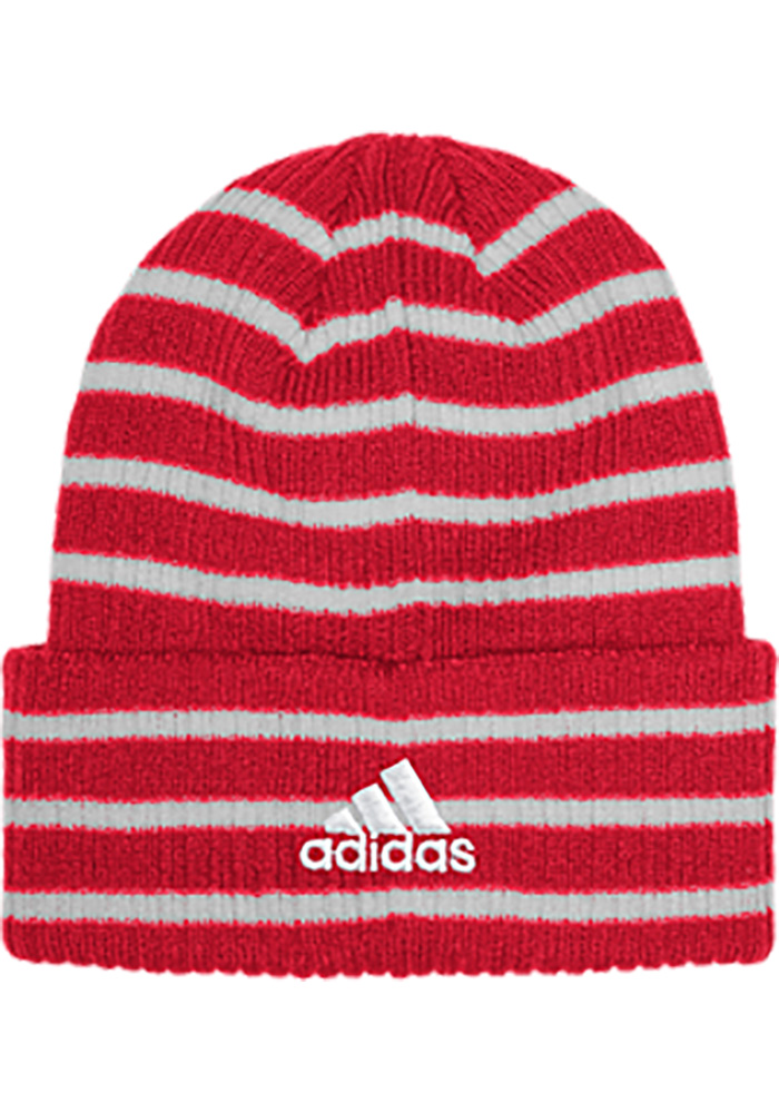 Adidas Detroit Red Wings Red Striped Up Mens Knit Hat - Image 2