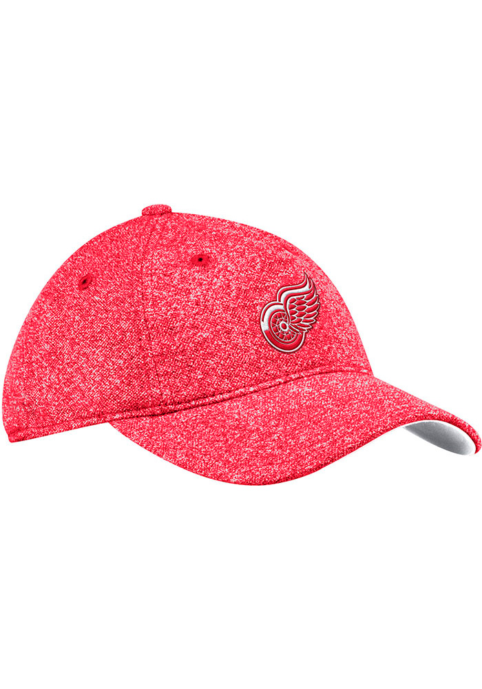 Adidas Detroit Red Wings Red Heathered Slouch Womens Adjustable Hat - Image 1