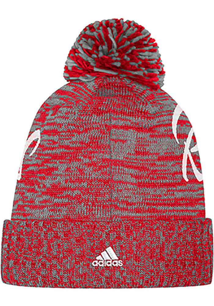 Adidas Detroit Red Wings Red Script Crown Womens Knit Hat - Image 2