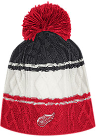 Detroit Red Wings Womens Adidas 3 Stripe Cable Knit - Red