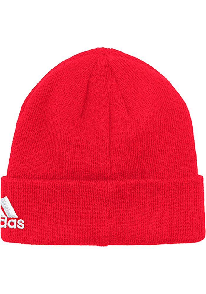 Adidas Detroit Red Wings Red Basic Cuff Mens Knit Hat - Image 2