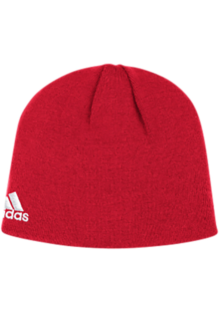 Adidas Detroit Red Wings Red Basic Mens Knit Hat - Image 2