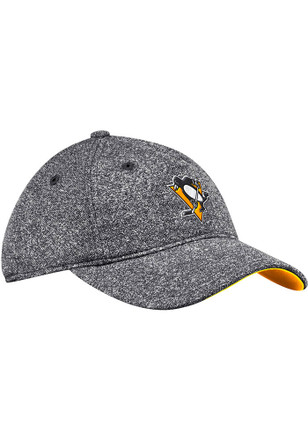 e07a6ac4209 Adidas Pittsburgh Penguins Womens Black Heathered Slouch Adjustable Hat