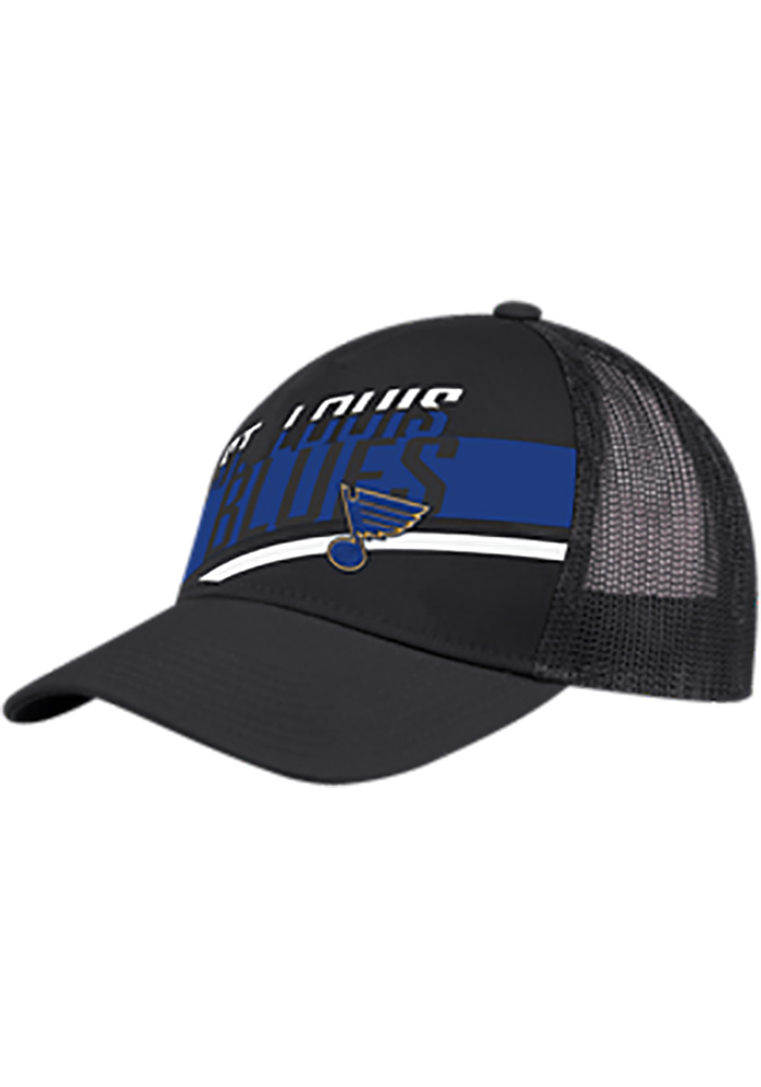 Adidas St Louis Blues Speed Script Meshback Adjustable Hat - Black - Image 1