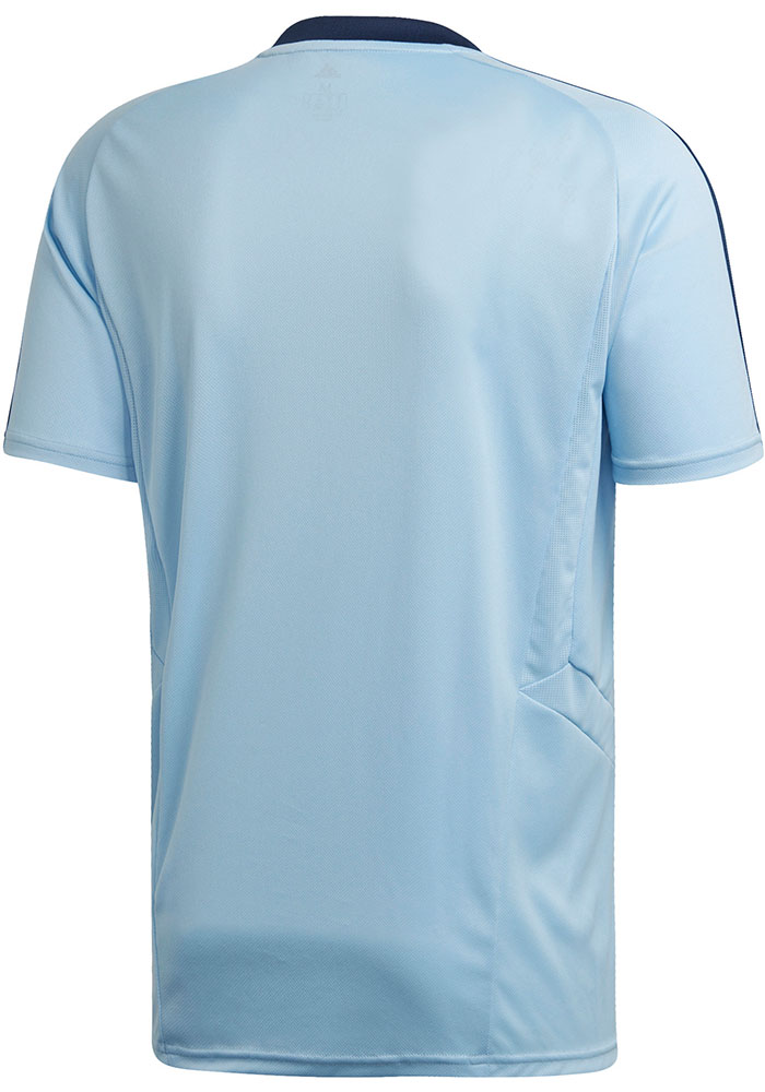 Adidas Sporting Kansas City Light Blue Training Jersey Short Sleeve T Shirt - Image 2