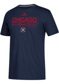 Chicago Fire Adidas Locker Stacked T Shirt - Navy Blue