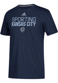 Sporting Kansas City Adidas Locker Stacked T Shirt - Navy Blue